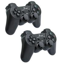 Kit 2 Controles DualShock PS3 Sem Fio - Knup