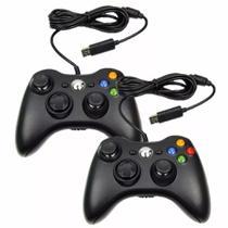 Kit 2 Controles Manete X360 Computador Pc Com Fio Joystick Usb - Centrão