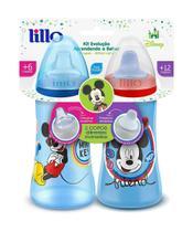 Kit 2 Copos Colors Bico de Silicone Disney Mickey Azul - Lillo Baby -