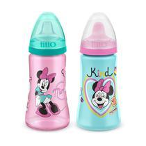 Kit 2 Copos Colors Bico De Silicone Disney Minnie Rosa Lillo -