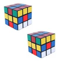 Kit 2 Cubo Mágico Profissional Diversas Cores 5cm 3x3x3 - F E J