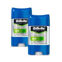 Kit 2 Desodorantes Gillette Antitranspirante Gel Hydra Aloe 86g -