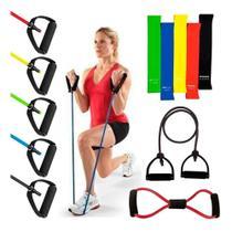 Kit 2 Elástico Exercícios Com 5 Mini Band Thera treinar em casa - Slu Fitness