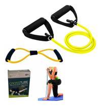 Kit 2 Elásticos Extensor Tensão Ombro Biceps Triceps Peito bumbum gluteos - Slu Fitness