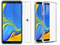 Kit 2 em 1 Capa Anti shock Cristal + Película de Gel Samsung Galaxy A7 2018 SMA750 - Hrebos