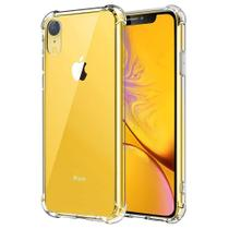 Kit 2 em 1 Capa Anti Shock Transparente iPhone XR + Película de Vidro 3D Borda Preta - ACESSÓRIOS IPHONE