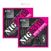 Kit 2 Encordoamentos Contrabaixo Nig 5 cordas .045/.130 -