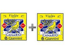 Kit 2 Encordoamentos Violão Nylon Canário Giannini GENWB -