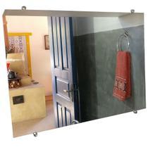 Kit 2 Espelho de Banheiro 3mm C/ Botão Francês 60 X 40 Cm - Armazém Ubá