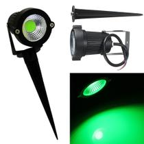 Kit 2 Espetos Projetor LED COB para Jardim 5W Bivolt - Luz VERDE - Luz Sollar