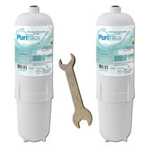 Kit 2 Filtro Refil Purificador de Água Soft By Everest Compatível + Kit Troca - Policarbon