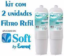 Kit 2 Filtros Refil Purificador De Agua Soft Everest - Policarbon