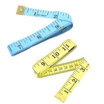 Kit 2 Fita Métrica Costura Medida Corporal 1,5m 60 Polegadas Medir Artesanato Medir Corpo Superfícies - Wellmix