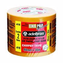Kit 2 Fitas Crepe Dupla Face Carpet Tape 48mm x 30m Adelbras -