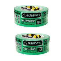 KIT 2 FITAS CREPE VERDE 766 ANTI UV AUTOMOTIVA 48mm x 50m - Adelbras
