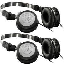 Kit 2 Fones de Ouvido Profissional AKG K414 P Mini Headphone Dobrável Para Retorno de Palco P2 K414P -
