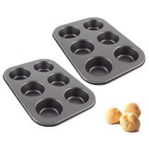 Kit 2 Formas de Assar Bolinhos e Cupcake 6 Cavidades  Rio Tijucas -