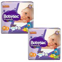 Kit 2 Fralda BabySec GALINHA PINTADINHA Premium - M - 36 unids - Experimente e se Surpreenda - Softys