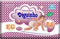 Kit 2 Fraldas Diguinho Plus Economia EG - 24 Unidades Revenda -