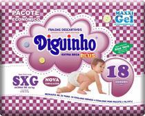 Kit 2 Fraldas Diguinho Plus Economica SXG - 18 Unidades -