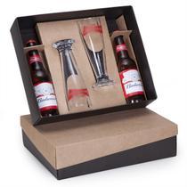 Kit 2 Gfas de cerveja Budweiser 343ml + 2 Tulipas de vidro 300ml - Shop quality