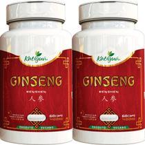 Kit 2 Ginseng Renshen (Panax) 400 mg 60 Capsulas Katigua -