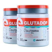 Kit 2 Glutadop L-Glutamina Elemento Puro 300g -