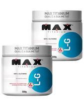 Kit 2 Glutamina 300 Gramas L G Max Titanium -