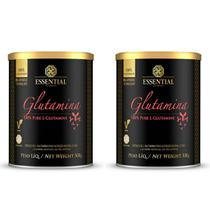 Kit 2 Glutaminas 100% Pure 300G - Glutamine - Essential Nutrition -