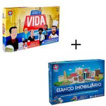 Kit 2 Jogos Banco Imobiliario e Jogo da Vida com Aplicativo, Estrela -