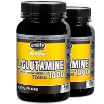 Kit 2 L-Glutamina 100% pura 120 cápsulas Unilife -