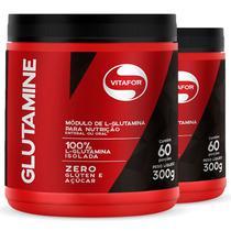 Kit 2 L-Glutamina  Glutamine Vitafor 300G -