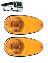 KIT 2 Lanterna Lateral  Bolha Pisca Seta AM - Ônibus Marcopolo G6 - Silo