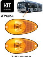 KIT 2 Lanterna Lateral  Pisca LED AM 24V Bolha Ônibus Caio / Mascarello / Marcopolo - Silo