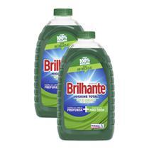 Kit 2 Lava-Roupas Líquido Brilhante Higiene Total 3l -