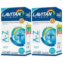 Kit 2 Lavitan A-z Original Polivitamínico 60 Comprimidos - Cimed