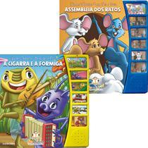 Kit 2 Livros Infantis Sonoro Narrado Fábulas P/ Ler E Ouvir - Blu Editora
