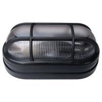 Kit 2 Luminária Arandela Tartaruga Externa Teto e Parede Soft Bocal E27 40W 250V Preta - Opl