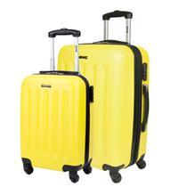 Kit 2 Malas P M de Viagem Com Rodinhas 360 4 Joy 3 - Amarelo - Sestini