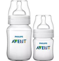 Kit 2 Mamadeiras Anticólica Avent 125/260 Classic+ 0m A 1m+ - Philips avent