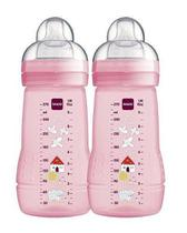 Kit 2 Mamadeiras Easy Active 270ml MAM Rosa -