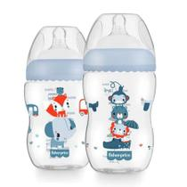 Kit 2 Mamadeiras First Moments Azul 270/330ml Fisher Price -