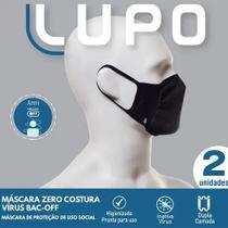 Kit 2 Mascaras Lupo Zero Costura Preta 36004-900 -