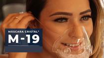 Kit 2 Mascaras Transparentes Com Filtro M19 Lavável Vedação 100% - Mascara Cristal