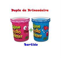 KIT 2 massinha Slime Ecão GLITTER CORES SORTIDAS - Dtc