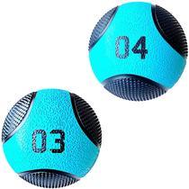 Kit 2 Medicine Ball Liveup PRO 3 e 4 Kg Bola de Peso Treino Funcional LP8112 -