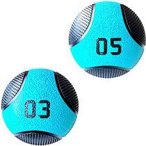 Kit 2 Medicine Ball Liveup PRO 3 e 5 Kg Bola de Peso Treino Funcional LP8112 -
