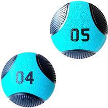 Kit 2 Medicine Ball Liveup PRO 4 e 5 Kg Bola de Peso Treino Funcional LP8112 - Liveup Sports