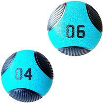 Kit 2 Medicine Ball Liveup PRO 4 e 6 Kg Bola de Peso Treino Funcional LP8112 - Liveup Sports