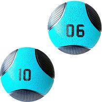 Kit 2 Medicine Ball Liveup PRO 6 e 10 Kg Bola de Peso Treino Funcional LP8112 -